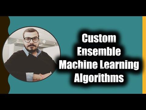 Custom Ensemble Machine Learning Algorithms