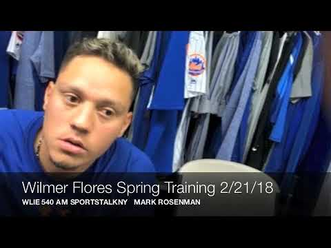 Wilmer Flores Spring Training 2/21/18