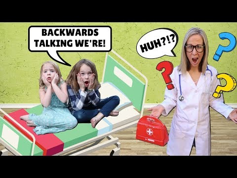 Addy and Maya Talk Backwards at the Toy Doctor