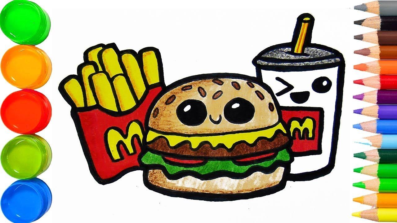 Como Dibujar Hamburguesa Mcdonald Kawaii Videos Para Ninos