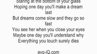 Let Her Go by Passenger acoustic guitar instrumental cover with lyrics karaoke