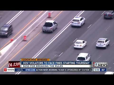 Hov Lanes Enforcement To Begin Youtube