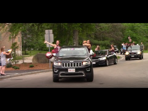 Millis High School Graduation Parade for the class of 2020. Millis MA