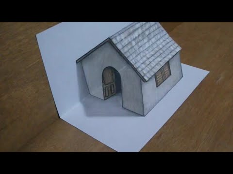 Cara menggambar rumah 3D Hebat YouTube