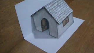 Download Video Cara menggambar rumah 3D Hebat MP3 3GP MP4