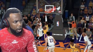 LEBRON JAMES GOT DUNKED ON BY 5FT PLAYER! Lakers vs Suns NBA 2K19 Ep 96