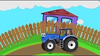 Песни для детей синий трактор  Мультики про машинки  Развивающие мультики