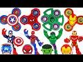 Dinosaurs are coming! Marvel Avengers Hulk, Spider-Man! Transform using fidget spinner! - DuDuPopTOY
