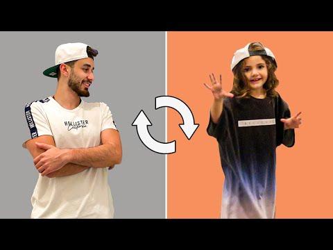تحدي تبادل الملابس | اسامة و ميلا