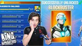BLOCKBUSTER SKIN UNLOCKED😱! | Fortnite Battle Royale (Nederlands)