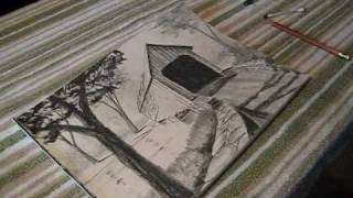 how to draw a covered bridge.wmv