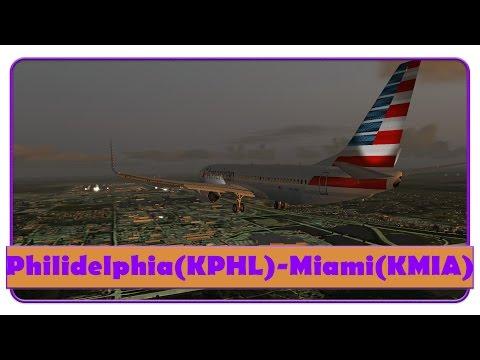 Fsx] Aal2189 | Philidelphia-Miami | Full Vatsim Atc! | American