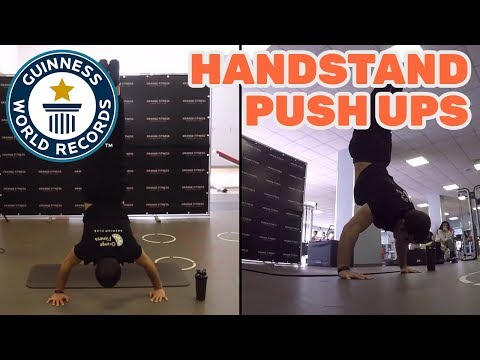 Most handstand push ups in one minute (male) – Guinness World Records