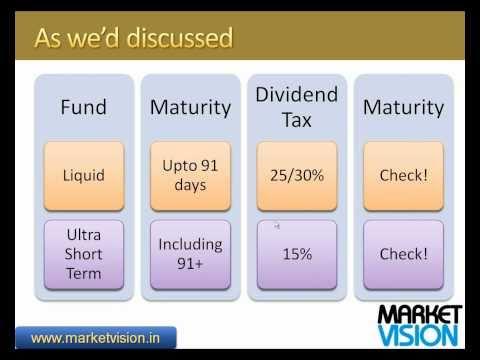 Choose a Liquid Fund or an Ultra Short Term Fund?
