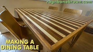Making A Dining Table With Mahogany, Teak, Oak, Pine & Spruce (part 1 of 2)