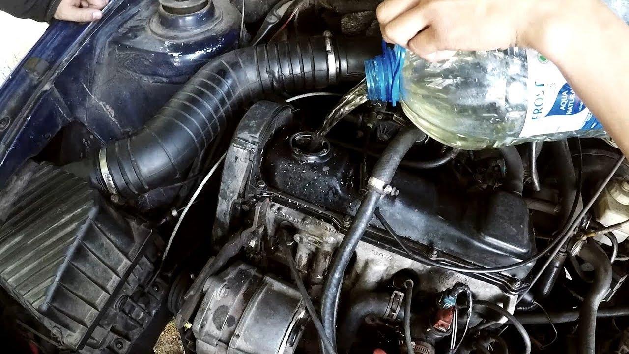 Что будет есть залить в двигатель воды + песок без масла  Volkswagen Passat B3