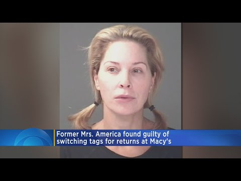 Former Mrs. America Found Guilty In Macy's Theft
