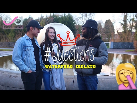 """Asking people in Ireland random """"Questions"""" Get acquainted in Waterford Ireland [E.p1]"""