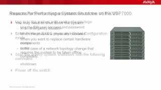 How to Perform a System Shutdown on the Avaya VSP7000