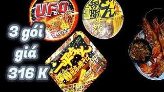 Thử Ăn 3 Gói Mì Gói Nhật Bản Có Giá Cao Ngất Ngưỡng I Review UFO Noodles, Wasabi Noodles