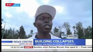 Three people in Murang'a injured after building under construction collapsed