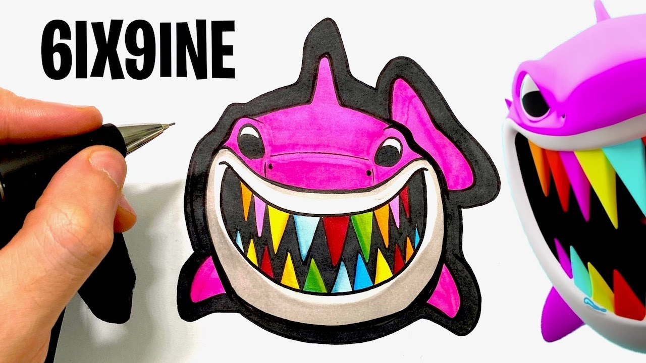 How To Color The Shark From 6ix9ine Clip Youtube