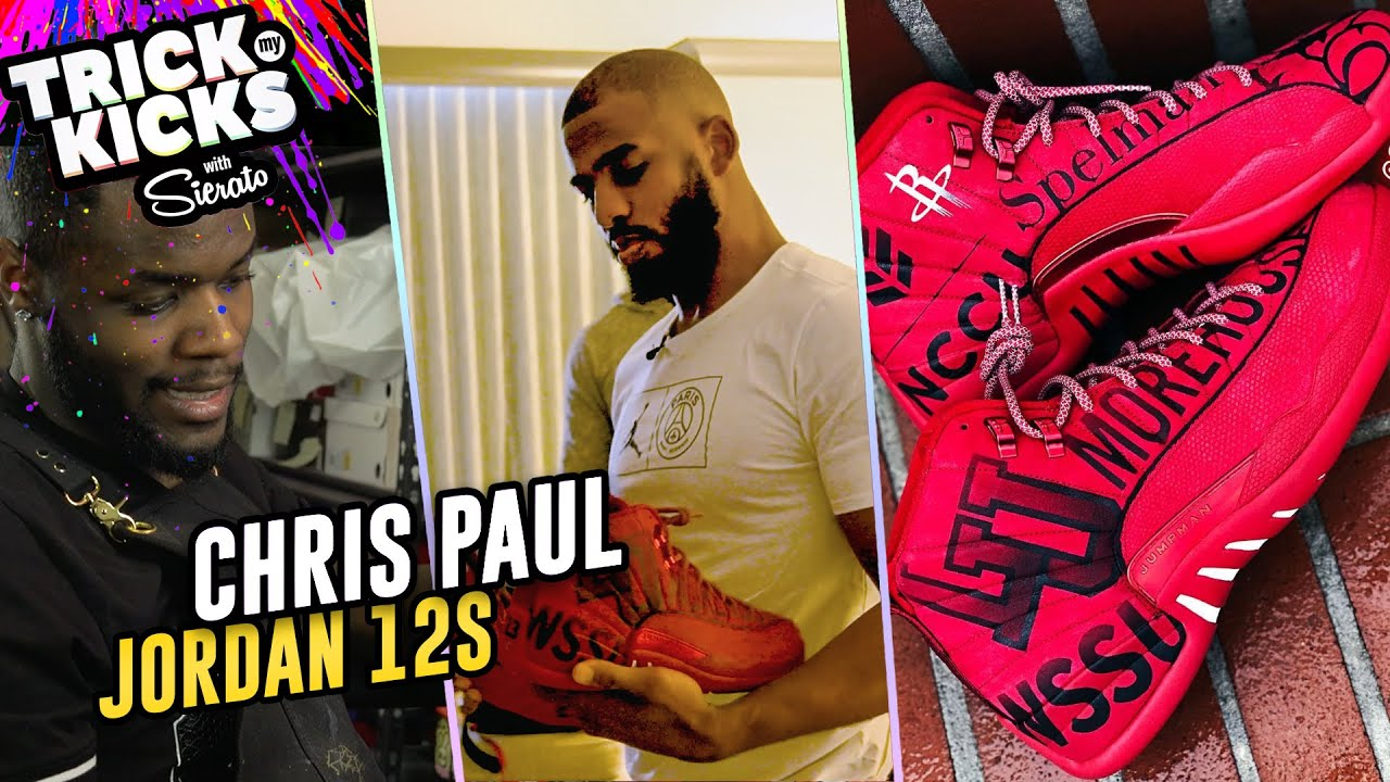 1b29c6fae06cd1 World s Best Sneaker Artist Makes INSANE Customs For CHRIS PAUL! Sierato  Has Ridiculous Skills 🔥