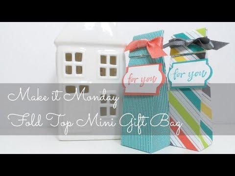 Make It Monday | Fold Top Mini Gift Bag using Stampin' Up! Designer Series Paper