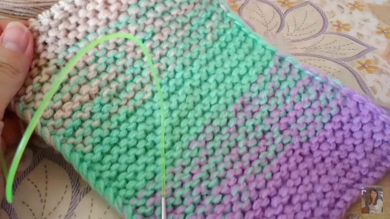 вязание с градиентом переходом цвета как связать градиент спицами