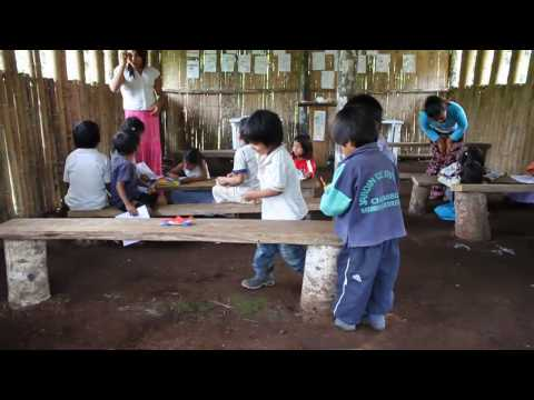 Little Kichwa Indian Kids Playing
