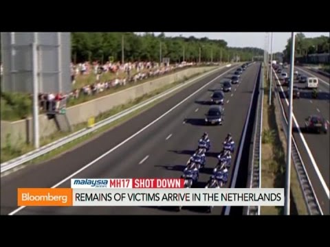 Malaysian Crash MH17 Victims Arrive on Dutch Soil