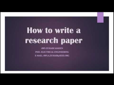 6. How to write a research paper - Introduction