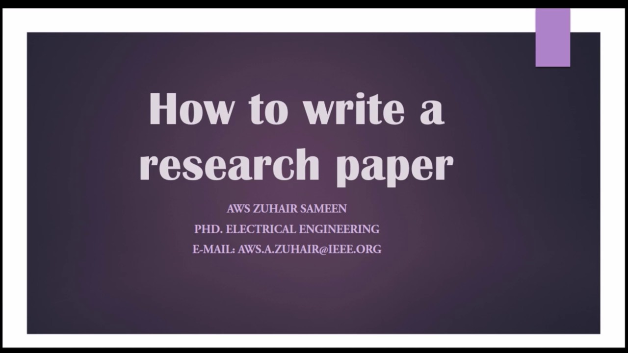 youtube research paper Are you interested in using a teacher research process in your classroom explore teacher research and action research.