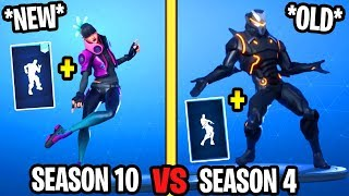 INFECTIOUS vs. ORANGE JUSTICE in Fortnite! NEW vs OLD DANCE/EMOTE! (Bass Boosted, Different Speed..)