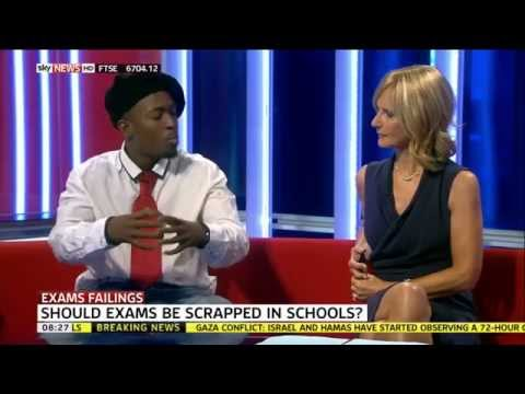"Suli Breaks on Sky News ""Should exams be scrapped?"""