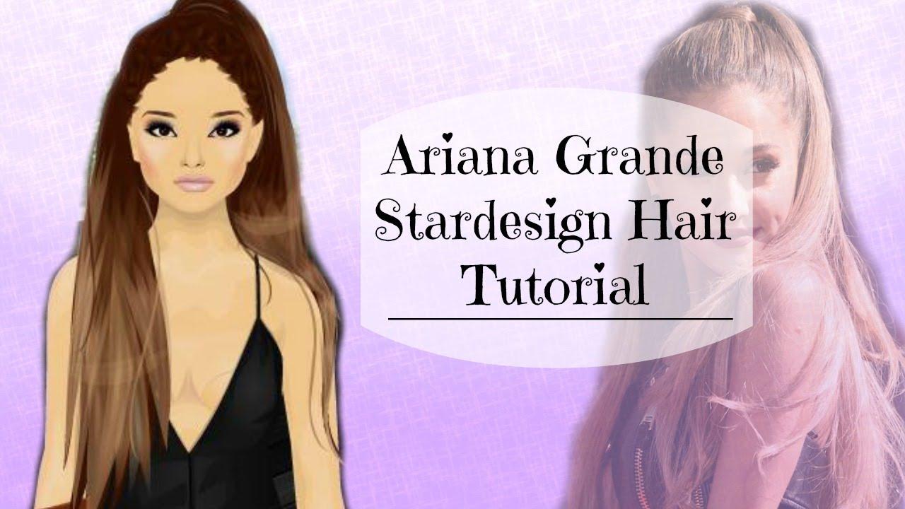 stardoll ariana grande hair design