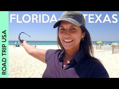 Driving from FLORIDA to TEXAS via Pensacola, Perdido Key, Gulf Shores, and Mobile