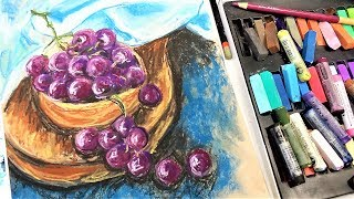 Grapes in Pastel // Sketchbook Sunday