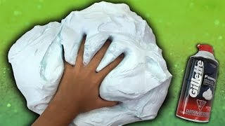 How To Make Fluffy Slime with Shaving Cream NO BORAX