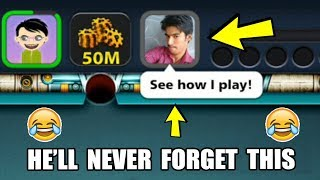 HE THOUGHT HE'S GOOD IN 8 BALL POOL, I TAUGHT HIM A LIFE LESSON INSTEAD...(embarassing)