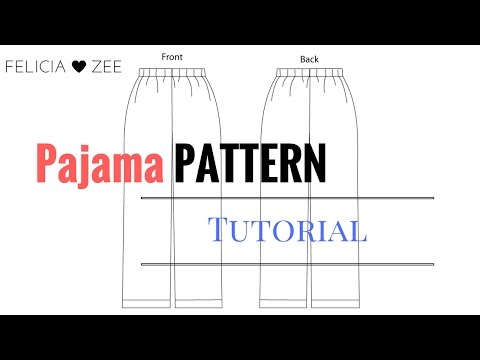 image relating to Printable Pajama Pants Pattern identify How Towards Deliver A Pajama Trousers Practice - YouTube