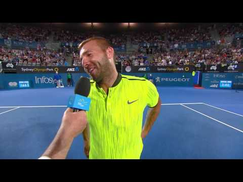 Daniel Evans On Court Interview (QF) | Apia International Sydney 2017