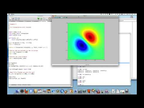 Python Interpolation 3 of 4: 2d interpolation with Rbf and