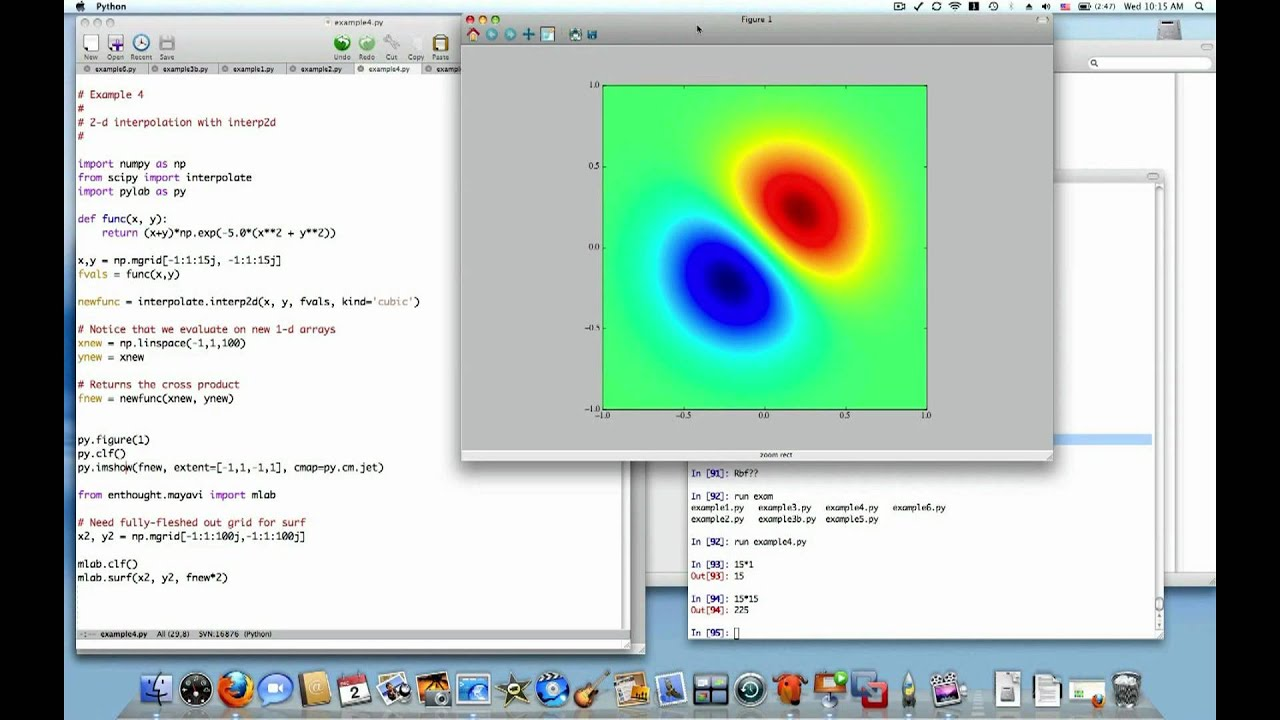 Python Interpolation 3 of 4: 2d interpolation with Rbf and interp2d