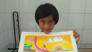 how to draw dolphin pictures for primary school    Cara Menggambar Binatang utk Anak SD