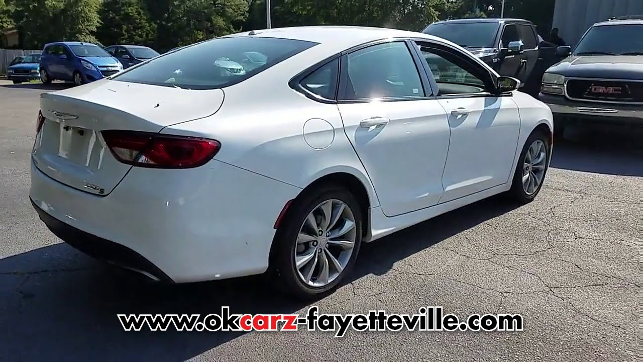 used 2015 chrysler 200 4dr sdn s fwd at ok carz fayetteville f3423 youtube youtube