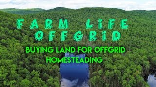 Buying land for homesteading and offgrid living Owner Financing
