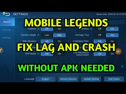 HOW TO FIX LAG AND CRASH ON MOBILE LEGENDS
