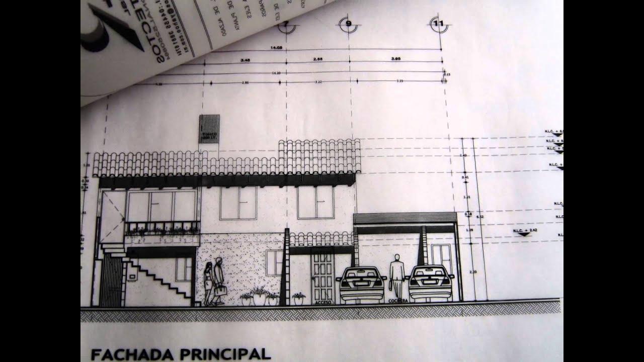 Dibujo de planos arquitect nicos de casa habitacion 2000 for Planos de casa habitacion