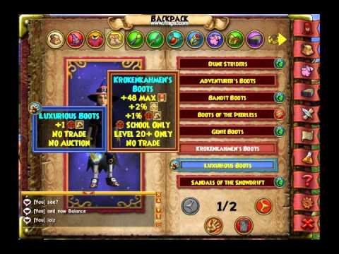 Wizard101 Cool Clothes Youtube